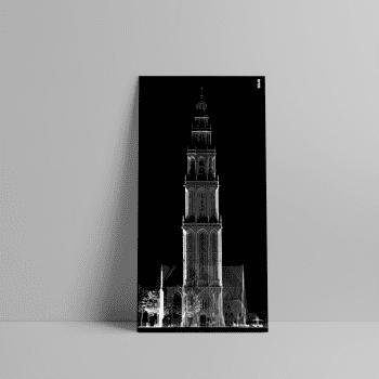 3D Laserscan van de Martinitoren in de stad Groningen